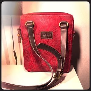 Burgundy/Brown Leather Relic Satchel